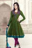 Beautiful Designer Green Pink Salwar Kameez