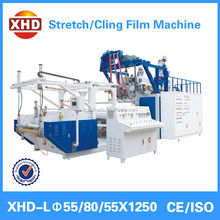 3 layer 1000mm co extrusion lldpe stretch and cling film making machine