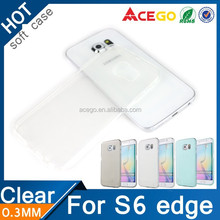 Tpu clear case for samsung s6 edge, mobilephone cover for s6 edge