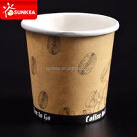 Wholesale 4oz / 100ml black espresso hot paper cups