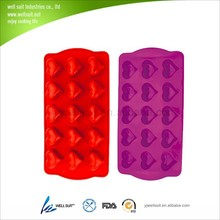 New Design silicone ice cube tray in heart shape
