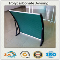 Polycarbonate window instruction awning mechanism
