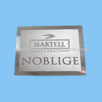 silver color metal business card