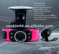 Dual Lens Video Registrator AV IN Lens X10 CKM-DC10 Car DVR
