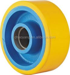 high quality europe model pu wheel 300*80 paint blue color