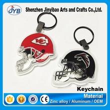 good design ice hockey souvenir led keychain helmet led lights keychain