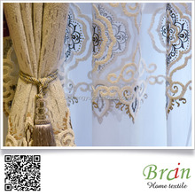 100% silk customized new design luxury fold curtain