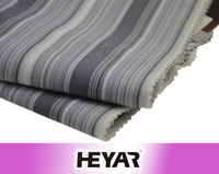 45S*45S 110*70 Yarn Dyed Grey and White Stripe Design Cotton Polyester CVC Woven Poplin Fabric and Textile