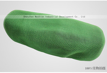Green fabric 3d mesh malla Seat cover Cubierta de asiento motorcycle