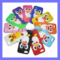 Child Favor Color Lovely Pinguim Cover for iPhone 5 5C