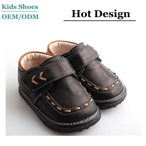 New Design Genuine Leather Baby Hard Sole Sand