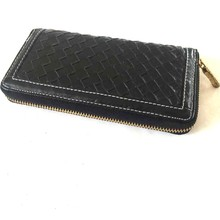 2015 Simple Travel Black PU Leather Checkbook Cover