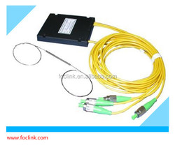 1x3 Single Mode Standard Optical Fiber Coupler/Splitter with FC/UPC connector, 3.0mm patch cable