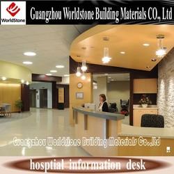hospital furniture nursing station solid surface reception desk