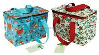 2015 Summer hot sell blue full print flower cooler bag