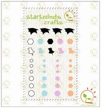 Enamel Shapes Sticker for scrapbooking embellishment