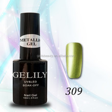 New shiny metal gel nail polish wholesale peel off led uv gel