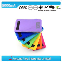 5000mah ultrathin lipo rechargeable battery charger mobile power station