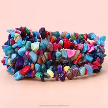 Colorful gemstone chips gemstone beads tumbled stone