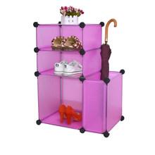 Ikea style DIY Assembled Plastic Shoe Storage Cabinet with Umbrella Cube Design(YK-7005)