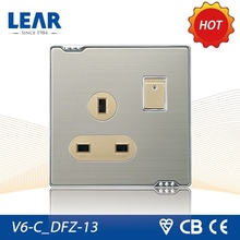 Classic design metal clad switched socket