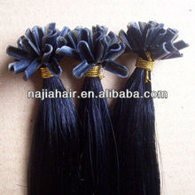 peruvian u-tip hair extension for silicone wigs