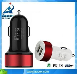 5V aluminum mobile phone portable dual usb car charger