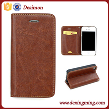 Magnetic Flip PU Leather Credit Card phone Case Cover for iphone 4s