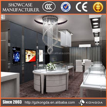 Good rotating mirror decorating jewelry store showcase and counter