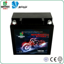 Lead Calcium Plate Lead Acid Maintenance-Free Motorcycle Battery For YB9-BS