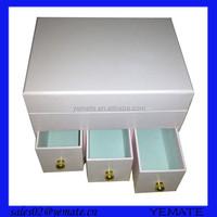 Popular drawer style cardboard cosmetic cream box cream jar cream container in pink