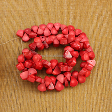 CB8042 Wholesale Red Coral teardrop beads