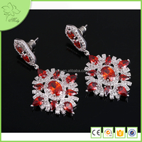 Fashion Cheap Real 24k White Gold Diamon Earrings Jewelry