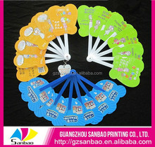Customize Cheap Plastic Hand Fan For Summer Gift Promotion With Handle