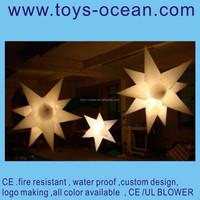 inflatable shinning star/inflatable LED decoration star/inflatable light decoration