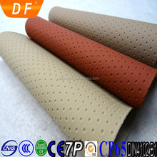 2015 Best Selling eco leather material Fireproof PVC perforated leather Car Seat Leather