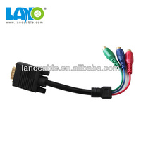 High-definition male to female vga to rca adapter cable
