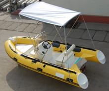 4.3m fiberglass hull speed inflatable boat, 1.2mm PVC, RIB-430