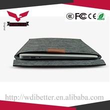 Smart Laptop Felt Sleeve Case Cover Bag Felt Leather Sleeve For Laptop For Macbook Pro 15
