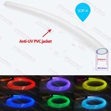 factory 4mm waterproof plastic side glow optic fiber light for outdoor wall light