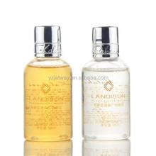 Transparent plastic bottles disposable good quality hotel shampoo/new shape shampoo bottles