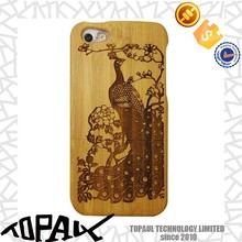 New design wood cases for iphone, carving own style bamboo cover case for iphone 6