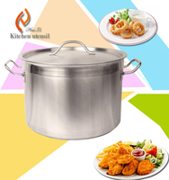 Durable 60 gallon commercial stainless steel kitchn steam pot with compound bottome In hotel restaurant used