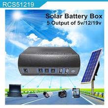 Hot selling 5v/12v/19v solar battery box,12v outdoor solar power supply for Video Game Consoles