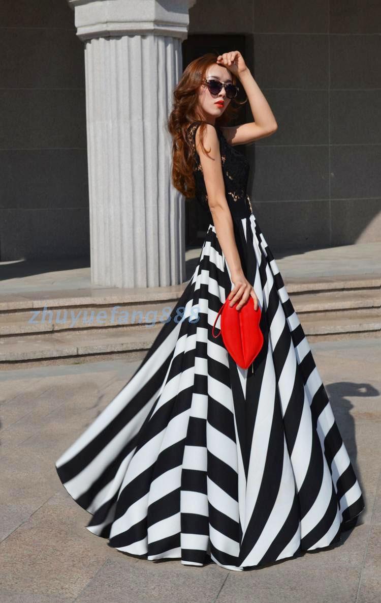 Фото платья в черную полоску