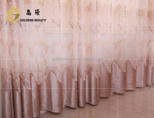 high quality moveable fancy curtains with embroidery