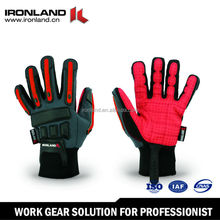 Synthetic leather custom made leather skeleton gloves
