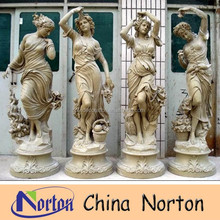 hand carved four seasons marble garden statues NTMS349