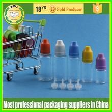 piccole bottiglie clear e liquido 30ml bottiglie in pet con tappo childprood e normale punta o tappi per le sigarette elettroniche