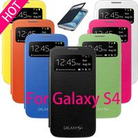 For Samsung Galaxy S4 S 4 I9500 9500 Original View Window Sleep Function Flip Leather Back Cover Case Battery Housing Cases
